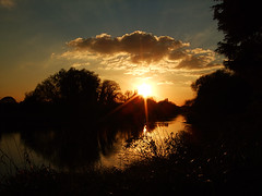River Sunset (Federilli) Tags: sunset thames river tramonto fiume richmond volunteering sole naturesfinest bctv volontariato greengym bigforeshoreclearup btcvphotocomp2008