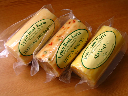 Different varieties of cheddar