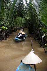 Mekong delta, vietnam (maapu) Tags: travel vacation holiday lady canon women vietnam adventure rowing rowboat mangroves mekongdelta mekong cantho mekongriver vietnamesewomen maapu mauroof canon40d mauroofkhaleel