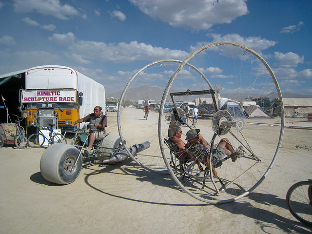 Kinetic Sculpture Race, Photo by Christian