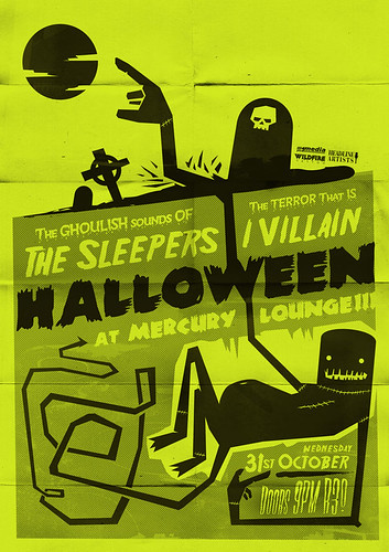 The Sleepers - Poster - Halloween Buried / Adam Hill