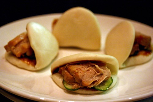 A Plate of Steamed Pork Belly Buns