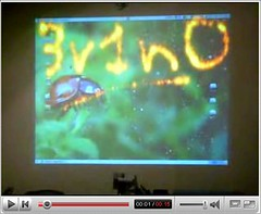 3v1n0 Compiz Fire on a Projector
