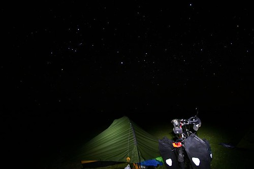 Starry night camp...