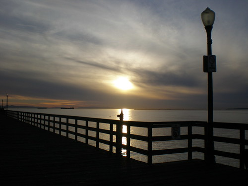 Sun from the Seal Beach Pier