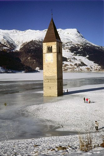 The Bell-tower in the frozen lake