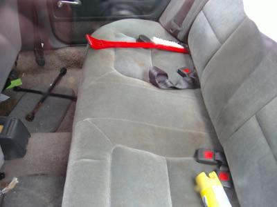 empty back seat