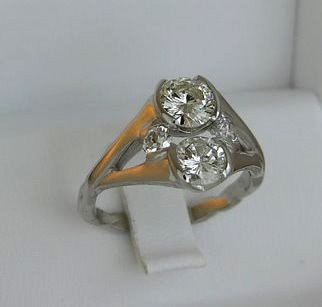 diamonds and woven shank ring