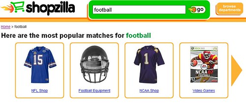 Shopzilla Football Search