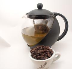 Tea or Coffee? (Bill Stickers -c) Tags: coffee delete10 delete9 delete5 delete2 tea delete6 delete7 delete8 delete3 delete delete4 pot mug gingertea