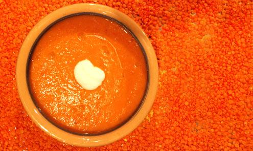 Spicy Lentil & Coconut Soup