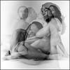 Fernando and Claudia (mexadrian) Tags: 120 6x6 rolleiflex noiretblanc trix pregnant tripleexposure fernandoriveracalderon