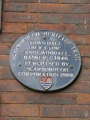 Photo of John Woodall and Town Hall, Scarborough blue plaque