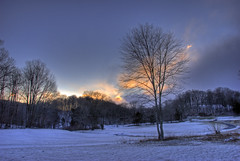 Glenview (<wikd>) Tags: winter sunset usa snow cold tree landscape geotagged pa poconos frigid hdr lonetree pocono 3xp pennslvania avision