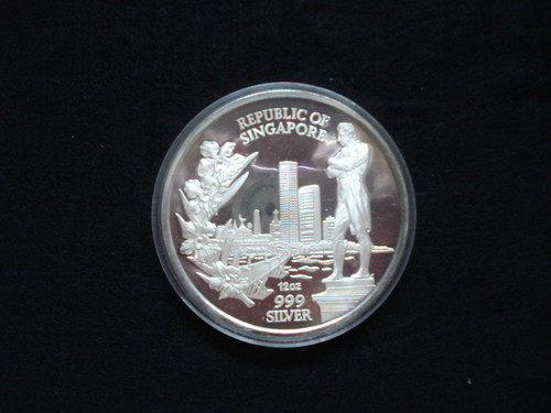 12oz Silver - Singapore International Coin Convention - Gold