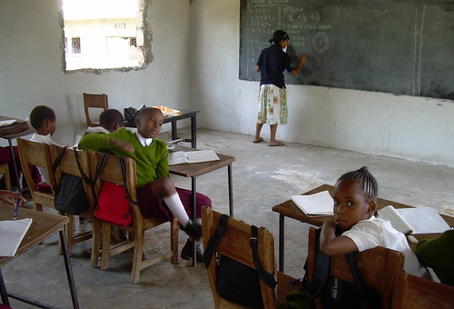 Shivaun teaching at Royal English-medium School near Arusha