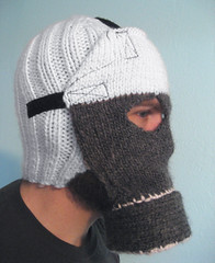 Knitted gas mask (dj pagarren) Tags: cool mask gas knitted