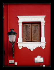 Focused On It (tochis) Tags: wood red white window lamp wall intense spain painted andalucia granada es repainted 10faves colourartaward