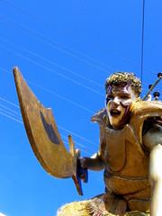 gold warrior.. (costafeeling) Tags: street carnival de happy colombia fair carnaval feliz 2008 atlantico costum barranquilla contento difraz