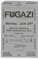 Fugazi and Gangster Fun with Trenchmouth-Toledo Masonic Auditorium (jugger-naut) Tags: midwest punk toledo punkrock shows flyers fugazi trenchmouth punkflyers toledoohio masonicauditorium gangsterfun