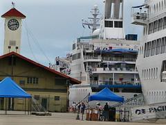Ocean liners moored in Cairns (tanetahi) Tags: australia queensland cairns oceanliner