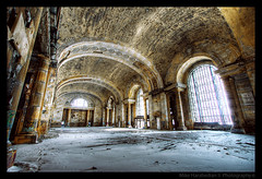 Michigan Central Station (MikeRyu) Tags: city windows winter sunlight snow building ice station architecture mi america train canon graffiti dof decay michigan explorer detroit entrance ceiling doorway american trainstation hdr mcs 30d 313 motorcity waynecounty interiorarchitecture canonefs1022mmf3545usm michigancentralstation detroitgraffiti canoneos30d diamondclassphotographer flickrdiamond