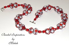 Red & White Polka Dot Necklace (michele_lundell) Tags: by michele beaded inspirations