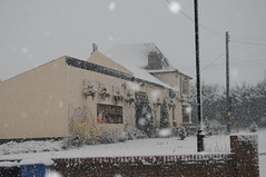 the old Percy inn (annadg) Tags: snow station easter pub inn sunday melford percy easter08