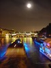 Full Moon and Boat on the Seine - Paris, France