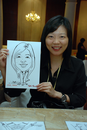 caricature live sketching Singtel Radiance Communications Avaya 17