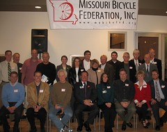 The St. Louis Cycling Commission poses for a group photo