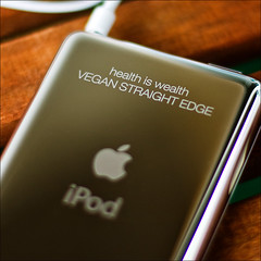 Ipod engraving (xmartenx) Tags: vegan ipod straightedge veganism sxe veganstraightedge ef5014 ipodengraving eos40d
