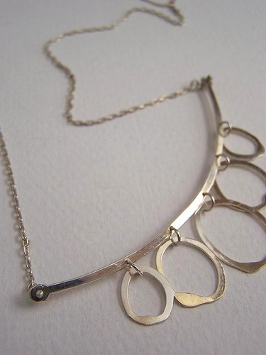 Sterling silver simple bubbles necklace