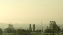 Gedling in the Early Morning Mist (DaveKav) Tags: nottingham uk greatbritain england mist church unitedkingdom britain olympus gb nottinghamshire gedling allhallows e510 fourthirds