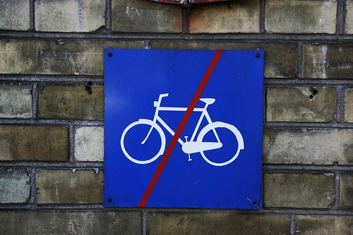 No Cycling Here, Please