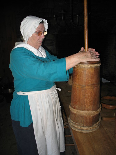 churning butter