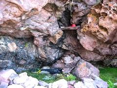 Arrivée à l'extrémité S de la vire du Tafonatu et son bivouac