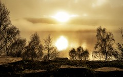 Loch Ness with morning mist rolling over the far shore. (cjpk1) Tags: loch ness rolling mist over shore shores scotland beautiful landscapes