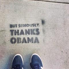 seriously (ekelly80) Tags: dc washingtondc february2017 dupontcircle sidewalk lookdown fromwhereistand shoes obama thanksobama seriously