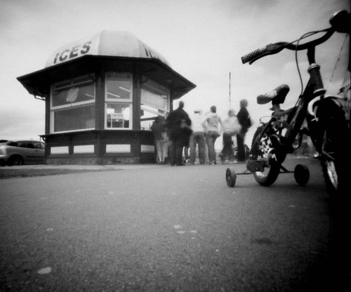 Ice cream kiosk at Largs pinhole image