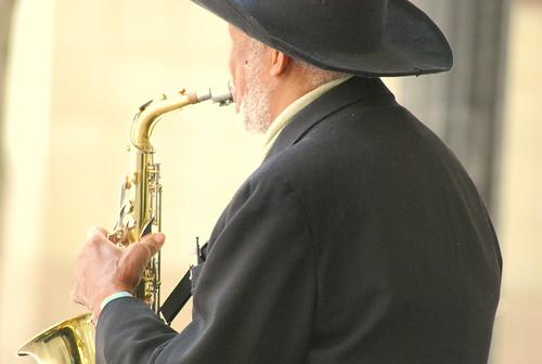 Saxophonist - Back