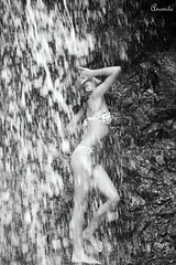 Natural Shower For a Natural Beauty (Cha) - Fonds-Saint-Denis ( Anonite ) Tags: woman pool girl swimming pose eau martinique mai caribbean cascade goutte movment naure mouvement vitesse carabes 2011 madinina