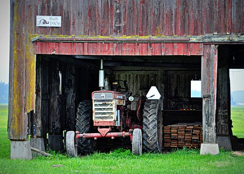 06-10-11Old Tractor, Older Barn by roswellsgirl