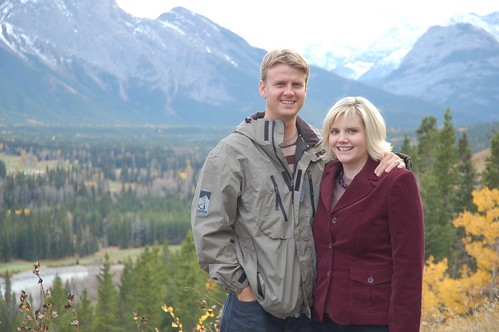 Sean and Lara at Kananaskis Lodge