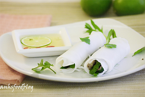 Noodle Rolls with Beef & Herb Filling