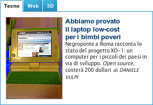 OLPC su repubblica.it