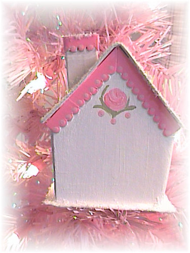 Pink Glitter Cottage Back