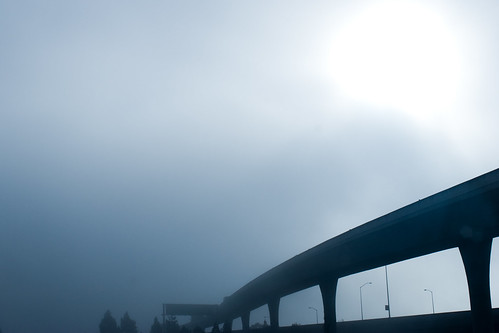 Overpass in the fog