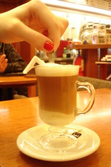 Caf en Jarrito (Being Nelson) Tags: coffee caf cafe nail spoon revolver cafeteria taza cappuchino cafetera cuchara ua capucchino