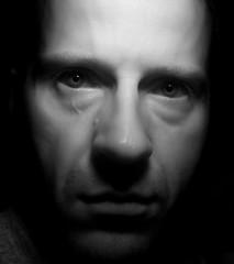 break in the light (korda) Tags: portrait white black me look self dark ir nose